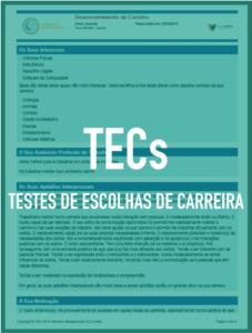 TECs - Testes de Escolhas de Carreira